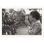 MARC RIBOUD - Anti-Vietnam War Protestor with Flower, Pentagon Demonstraton, Washington, D.C - Or...