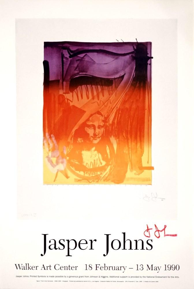 JASPER JOHNS - Figure 7 - Original color offset lithograph