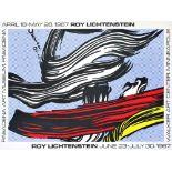 ROY LICHTENSTEIN - Brushstrokes - Original color silkscreen