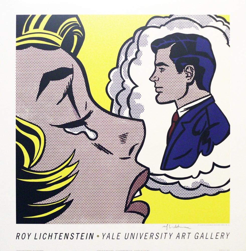 ROY LICHTENSTEIN - Thinking of Him - Original color silkscreen
