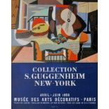 """PABLO PICASSO - Collection S. Guggenheim New York [""""Mandolin and Guitar""""] - Color lithograph"""