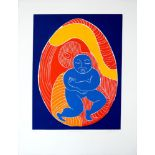 KARIMA MUYAES - Niño Interior - Color reduction linocut