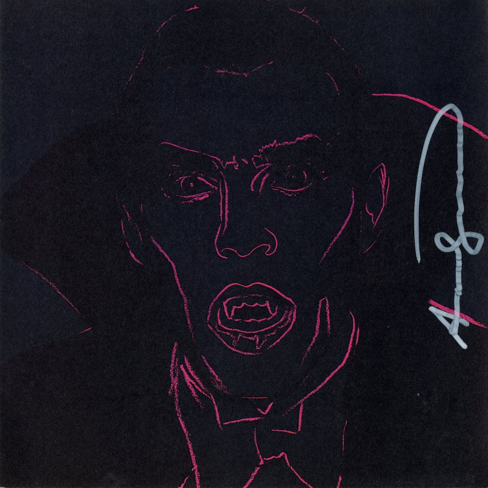 ANDY WARHOL - Dracula - Color offset lithograph