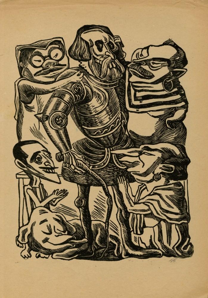 JOSE CHAVEZ MORADO - Los Huesitos de Cortes - Woodcut