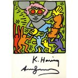 KEITH HARING & ANDY WARHOL - Andy Mouse IV, Homage to Warhol - Color offset lithograph