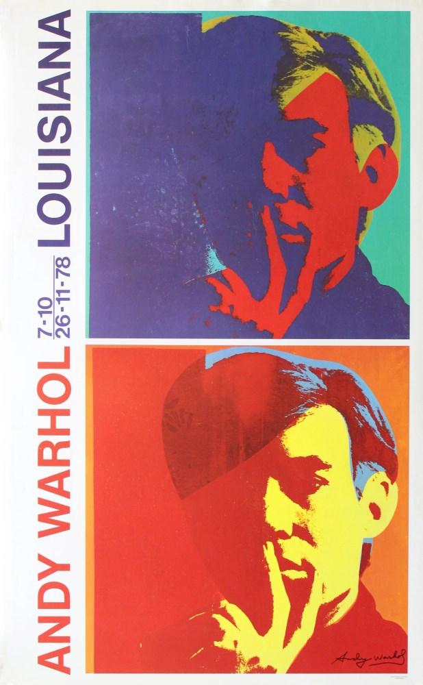 ANDY WARHOL - Double Self-Portrait - Original color offset lithograph