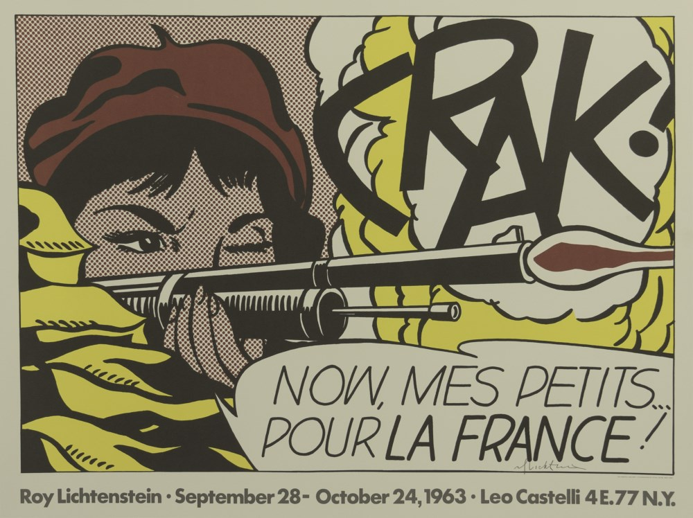 ROY LICHTENSTEIN - Crak! - Original color offset lithograph poster
