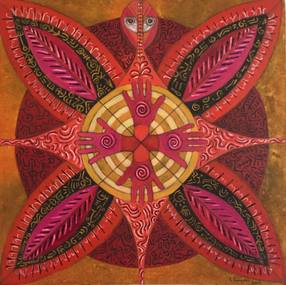 KARIMA MUYAES - Mandala Huichol - Oil on canvas