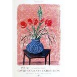 DAVID HOCKNEY - Amaryllis in Vase - Color offset lithograph