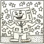 KEITH HARING - Eighteen Stars - Lithograph