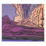 ANDY WARHOL - Vesuvius #08 - Color offset lithograph