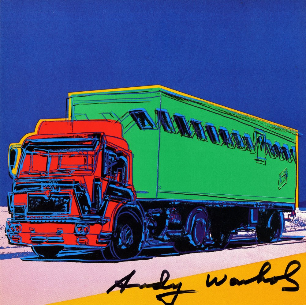 ANDY WARHOL - Truck #2 - Color offset lithograph