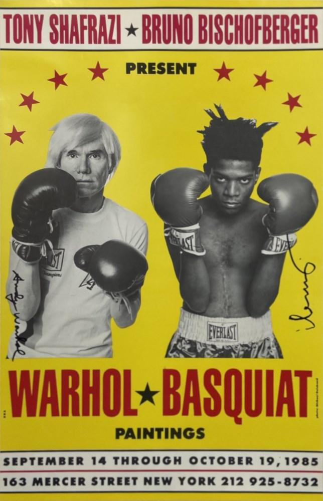 JEAN-MICHEL BASQUIAT & ANDY WARHOL - Warhol * Basquiat Paintings - Original color offset lithograph