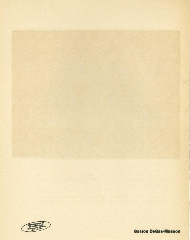 EDGAR DEGAS - Trois filles assises de face - Original color gravure with pochoir, after the monotype - Image 2 of 2