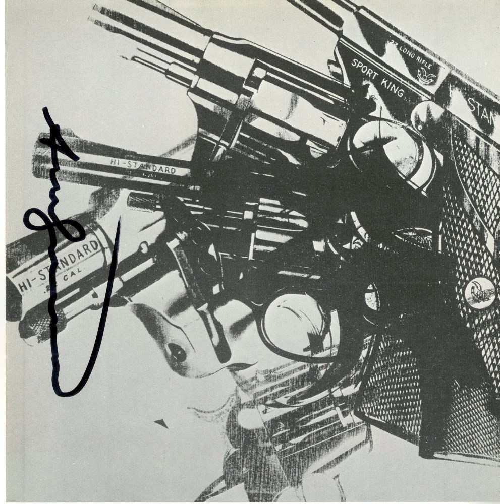 ANDY WARHOL - Guns #11 - Color offset lithograph