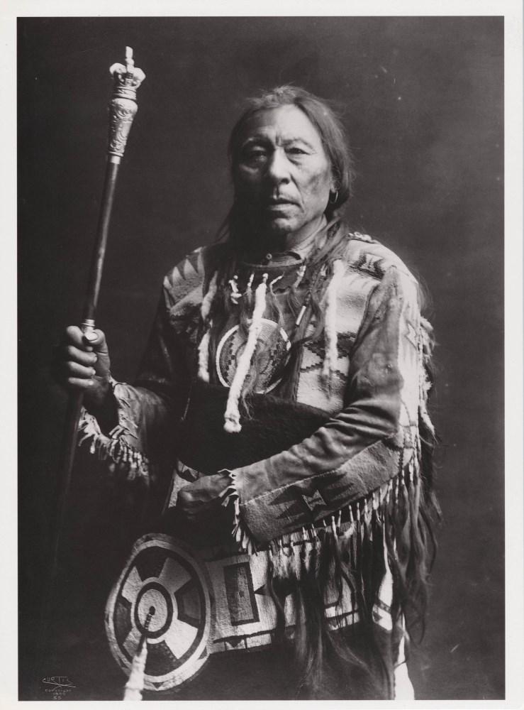 EDWARD S. CURTIS - Running Rabbit, Blackfoot - Original photogravure