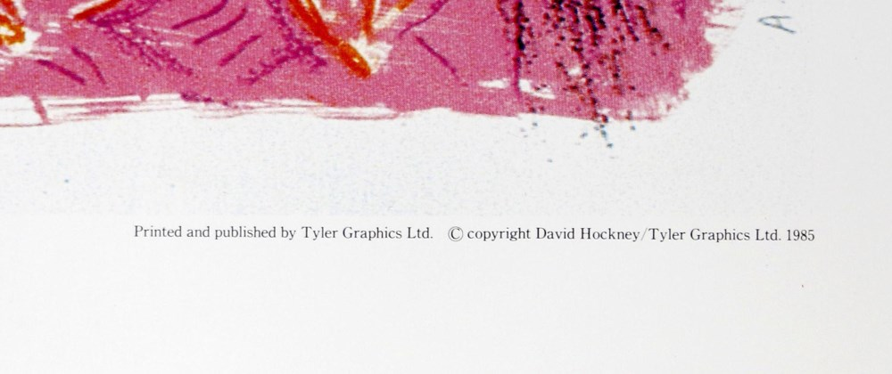 DAVID HOCKNEY - Amaryllis in Vase - Color offset lithograph - Image 2 of 2
