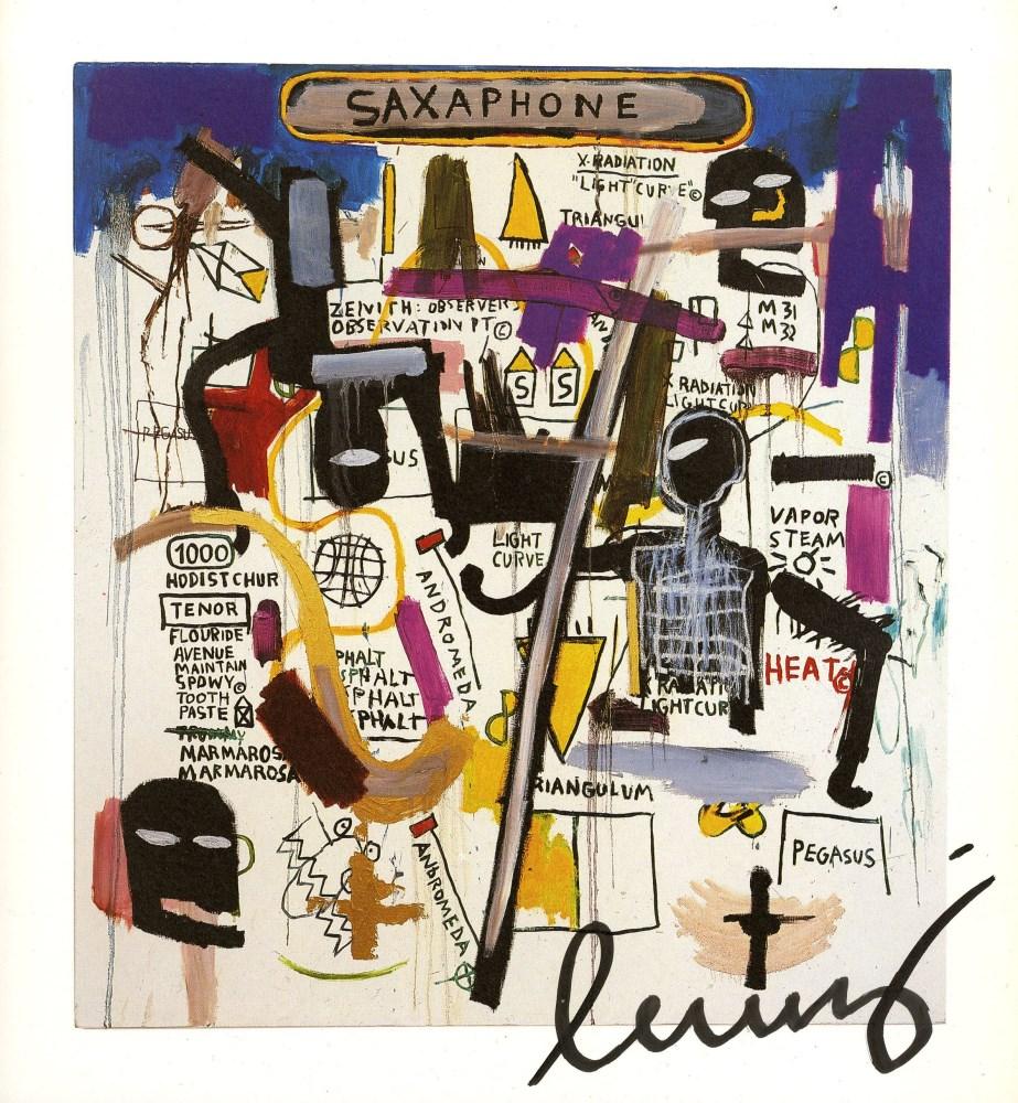 JEAN-MICHEL BASQUIAT - Saxophone - Color offset lithograph