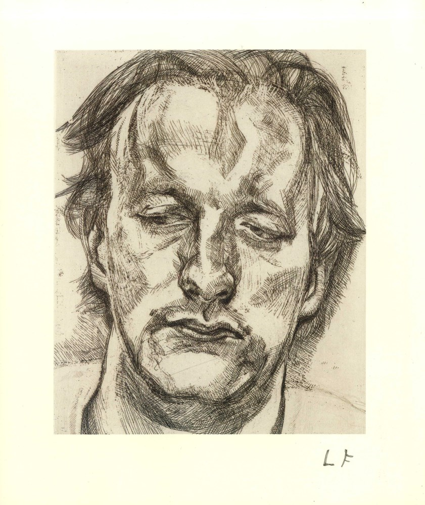 LUCIAN FREUD - Head of a Man - Offset lithograph [following the original etching]
