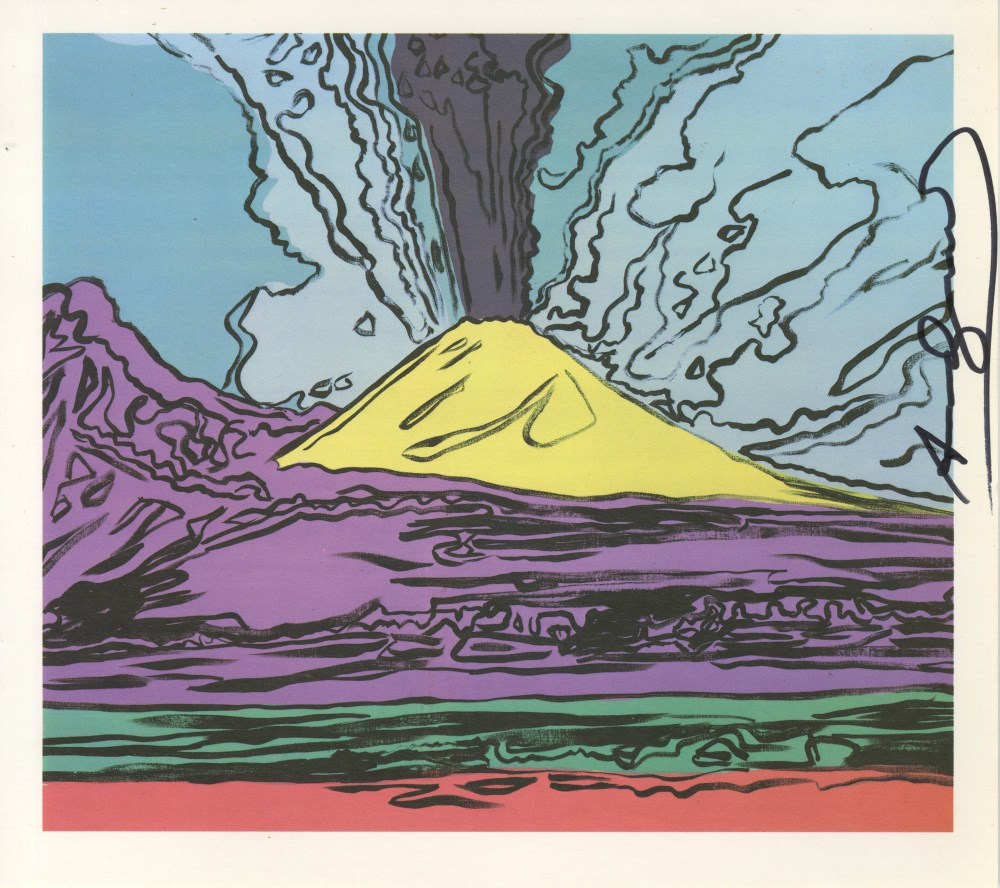 ANDY WARHOL - Vesuvius #12 - Color offset lithograph