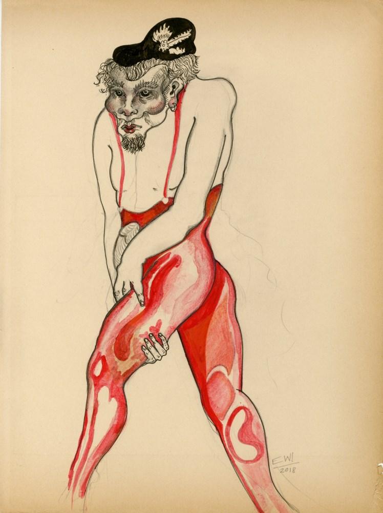 ESTELA WILLIAMS - Pantalone - Watercolor, pencil, and ink on paper