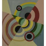 SONIA DELAUNAY - Rythmes Couleurs - Gouache on paper