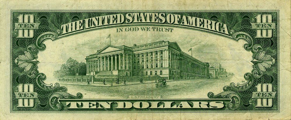 ANDY WARHOL - Ten Dollar Hamilton - Color engraving and letterpress - Image 2 of 2