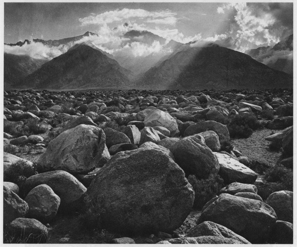 ANSEL ADAMS - Mt. Williamson, Sierra Nevada, from Manzanar, California - Original photogravure
