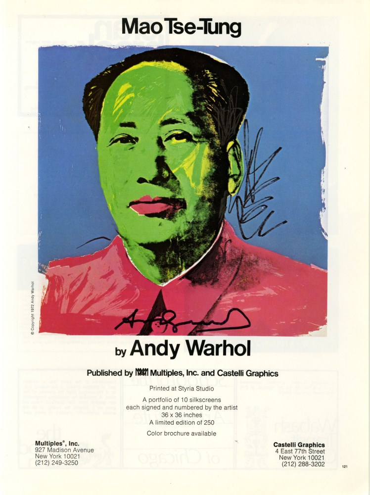 ANDY WARHOL - Mao - Color offset lithograph