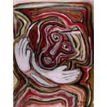 KARIMA MUYAES - Manos Blancas - Oil on paper