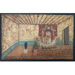 MEXICAN SCHOOL (EX-VOTO ARTIST) 20TH CENTURY - Vintage Ex-Voto/Retablo: Señor de la Caña - Oil on...