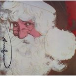 ANDY WARHOL - Santa Claus - Color offset lithograph