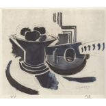 GEORGES BRAQUE - Mandoline et compotier - Original color collotype