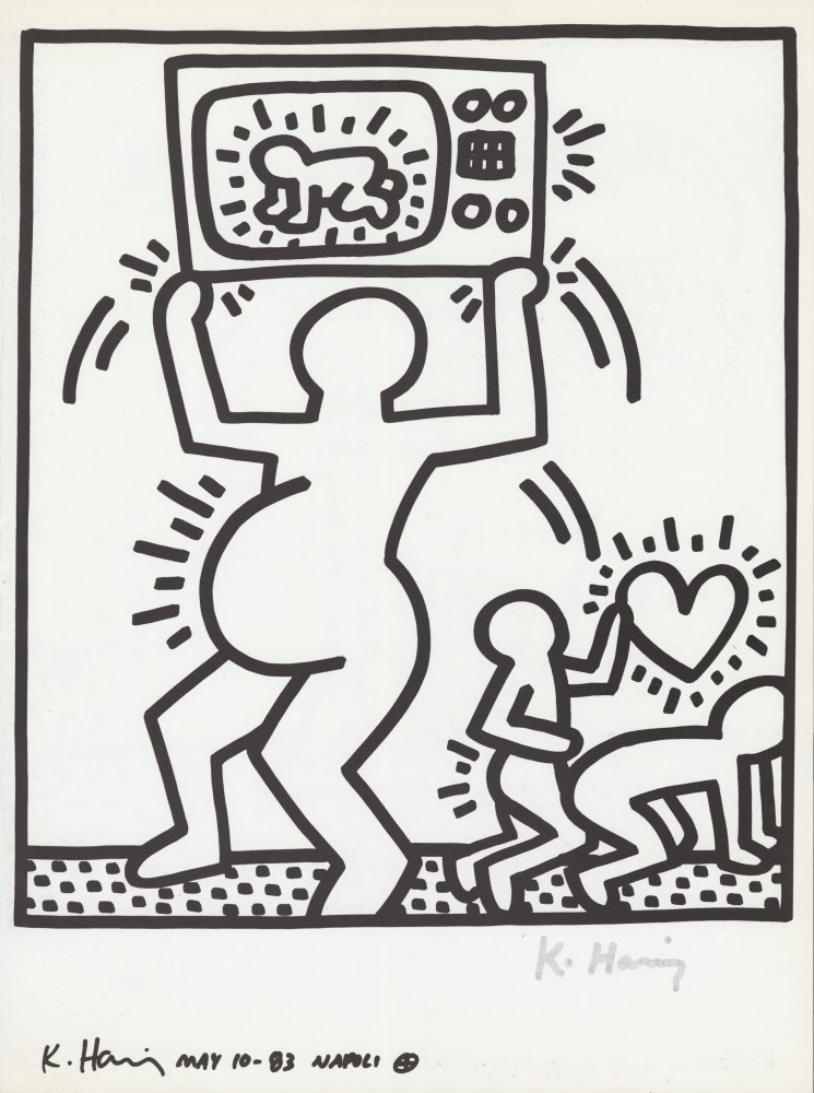 KEITH HARING - Naples Suite #07 - Lithograph