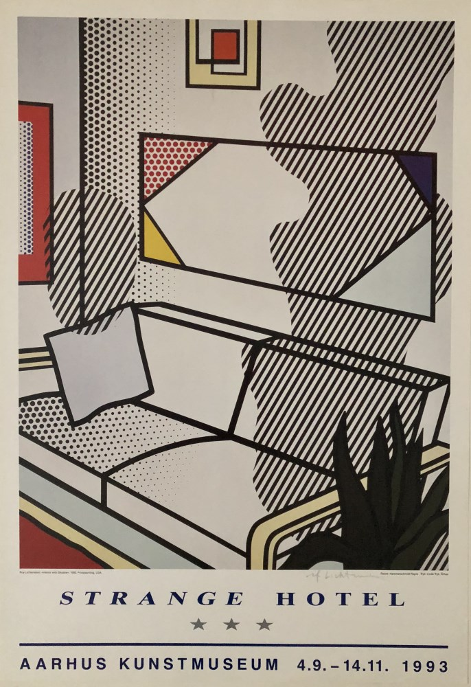 ROY LICHTENSTEIN - Interior with Shadow - Color offset lithograph