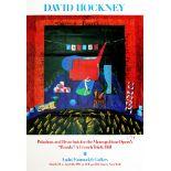 DAVID HOCKNEY - The Set for Parade - Color offset lithograph
