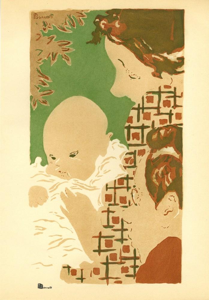 PIERRE BONNARD - Scene de famille - Original color lithograph