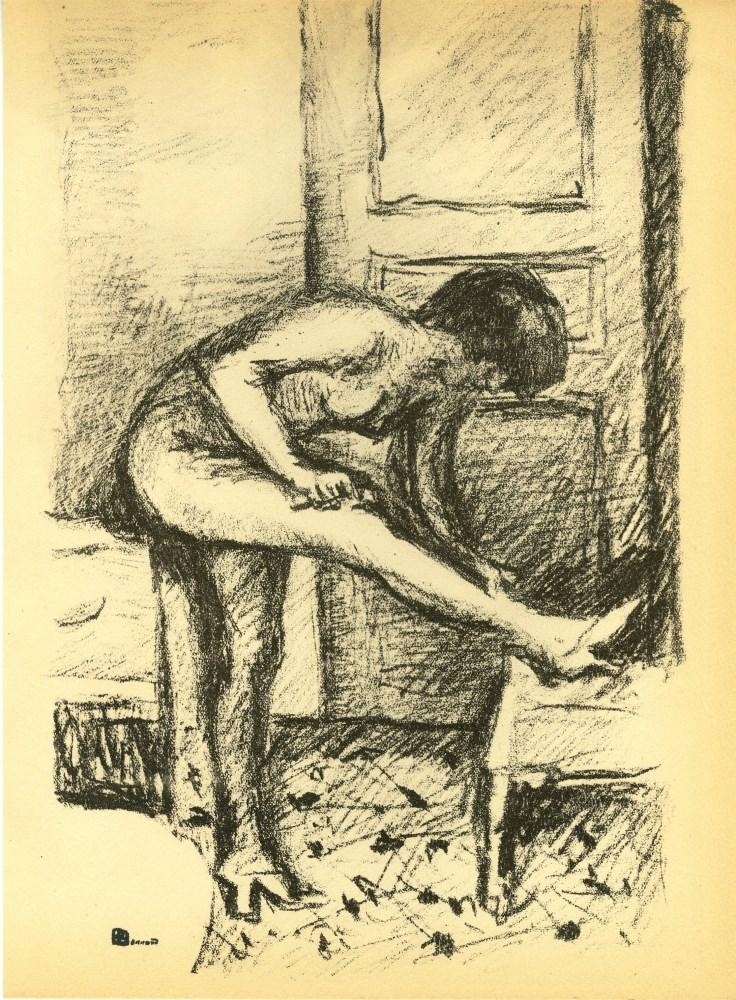PIERRE BONNARD - Femme a sa toilette - Original lthograph