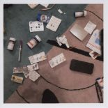 NAN GOLDIN - Drugs on the Rug, New York City - Color photograph