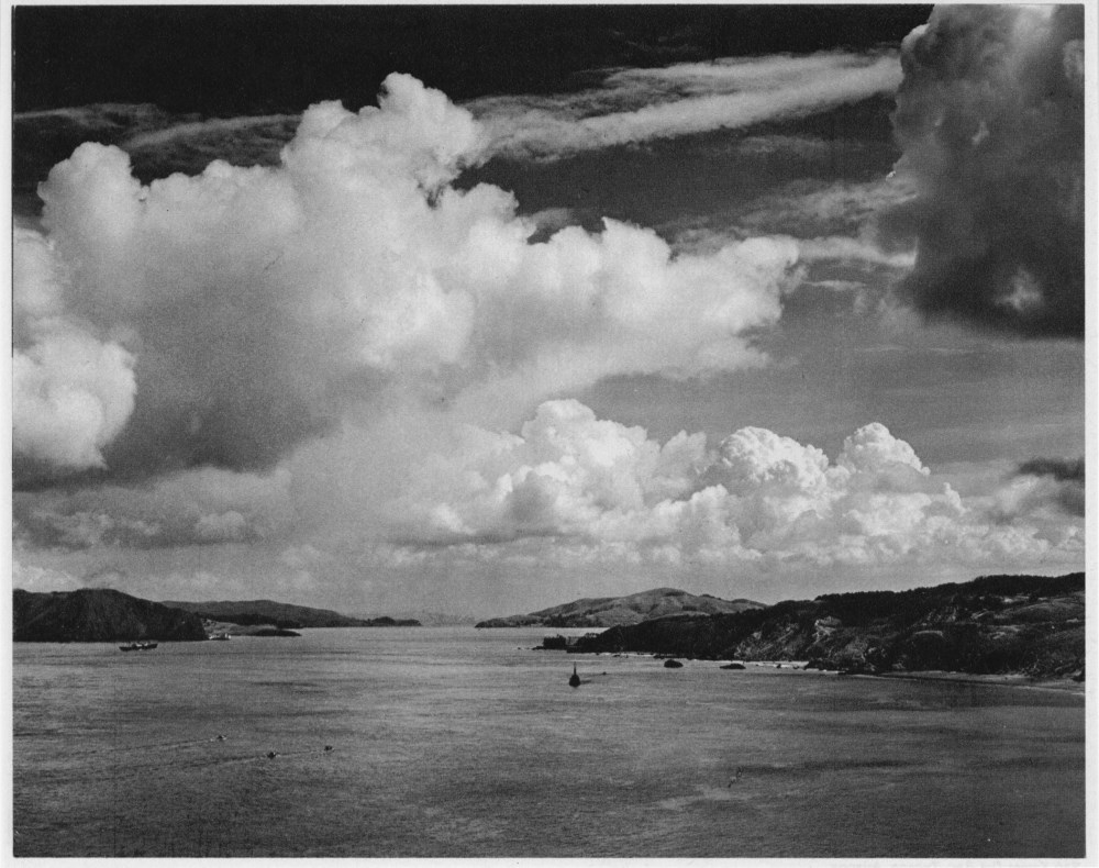 ANSEL ADAMS - Golden Gate before the Bridge, San Francisco, California - Original photogravure