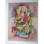 JALED MUYAES - Abstracion Trapecio - Gouache and watercolor on paper
