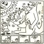 KEITH HARING - Four Kangaroos - Lithograph
