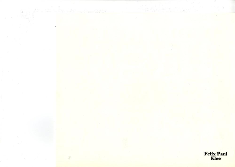 PAUL KLEE - Geheimschrift-bild - Original color lithograph - Image 2 of 2