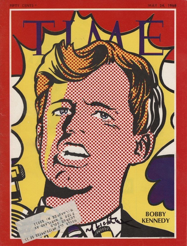 ROY LICHTENSTEIN - Bobby Kennedy - Color offset lithograph