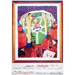 DAVID HOCKNEY - Views of Hotel Well III - Color offset lithograph