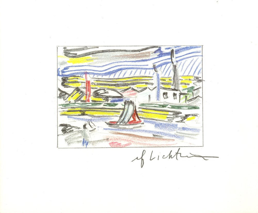 ROY LICHTENSTEIN - The River - Color offset lithograph