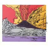 ANDY WARHOL - Vesuvius #01 - Color offset lithograph