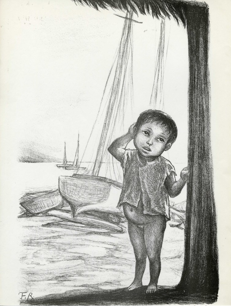 FANNY RABEL - Niño de la Costa - Original lithograph