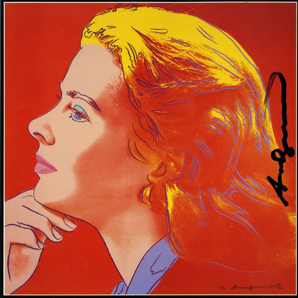 ANDY WARHOL - Ingrid Bergman: Herself (10) - Color offset lithograph