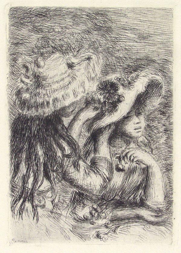 PIERRE-AUGUSTE RENOIR - La chapeau epingle - Original etching